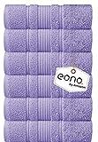 Eono by Amazon, Toallas de Mano, Paquete de 6, (16 x 28 Pulgadas) | Super Suave...