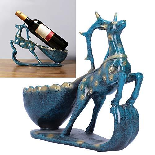 Eulbevoli Decoración del Estante del Vino, Materiales de Resina Adorno del Estante del Vino para los Amantes del Vino para el gabinete del Vino para el Escritorio