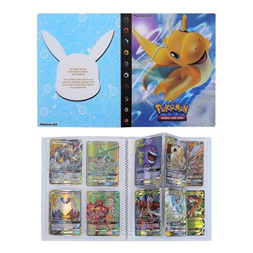 Pokemon Karten Album, Pokemon Karten Halter, Pokemon Karten Halter Album Ordner Buch, Pokemon Sammel GX EX Karten Album (Dragonite)