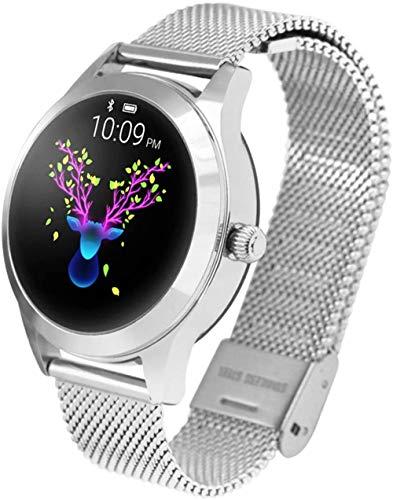 Reloj inteligente para mujer, resistente al agua, IP68, monitor de ritmo cardíaco, pulsera inteligente, rastreador de fitness, reloj inteligente deportivo (color: C)-B