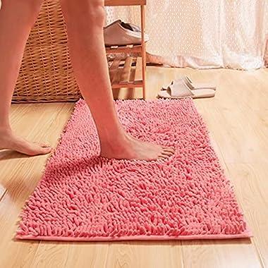 Indoor Doormat Front Door Mat Rug Modern Absorbent Washable Low Profile Pink TPYU102209