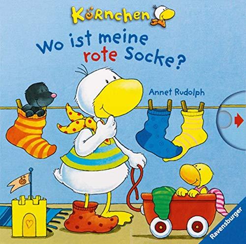 Körnchen: Wo ist meine rote Socke?: Schiebebuch