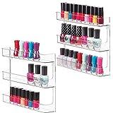 mDesign Juego de 2 estantes para esmaltes de uñas para la pared – Organizador...