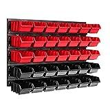 Lagersystem Wandregal 576 x 390 mm, 35 stck. Box, Stapelboxen Schüttenregal Sichtlagerkästen,...