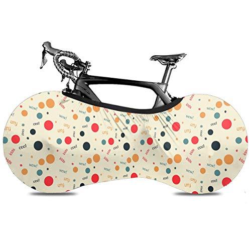 Watercolor Rose Cubierta de Bicicleta Portátil Interior Anti Polvo Alta Elástica Cubierta de Rueda Cubierta de Bicicleta Protector Rip Stop Neumático Carretera MTB Bolsa de Almacenamiento, Punto., talla única