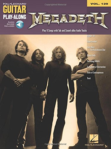 Guitar Play-Along Volume 129: Megadeth -Play-Along Gitarre- (Book, CD): Play-Along, (mit) Tonträger für Gitarre