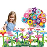 Dely Gifts Toys for 3 4 5 6 Year Old Girls, STEM Flower Garden Building Toys for Kids, 109 PCS Crafts for Toddlers Girls, Educational Outdoor Gardening Pretend Playset,BPA Free