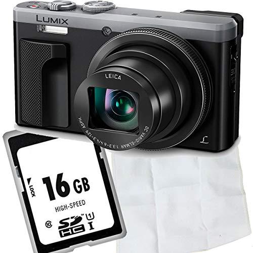 Panasonic LUMIX DMC-TZ81EG-S Travellerzoom Kamera (18,1 Megapixel, LEICA Objektiv mit 30x opt. Zoom, 4K Foto und Video, Sucher, 3-Zoll Touch-LCD) silber, 1A PHOTO PORST Starterangebot