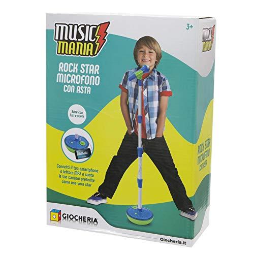 LIBROLANDIA Giocheria GGI190148 Music Mania - Boy Asta con Microfono Azzurra