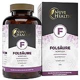 Folsäure Komplex - 240 Tabletten (8 Monatsvorrat) - Hochdosiert mit 800 μg Folat (Quatrefolic®) +...
