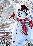 DIY 5d diamante Kit de Pintura,5D diamond painting,Pinturas Diamante Diseño de muñeco de nieve para Navidad de punto de cruz bordado Art Craft Supply para casa decoración de la pared27x35cm