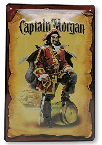 Meer reliëfborden hier... Captain Morgan Rum - Retro metalen bord - Formaat: 30 x 20 cm