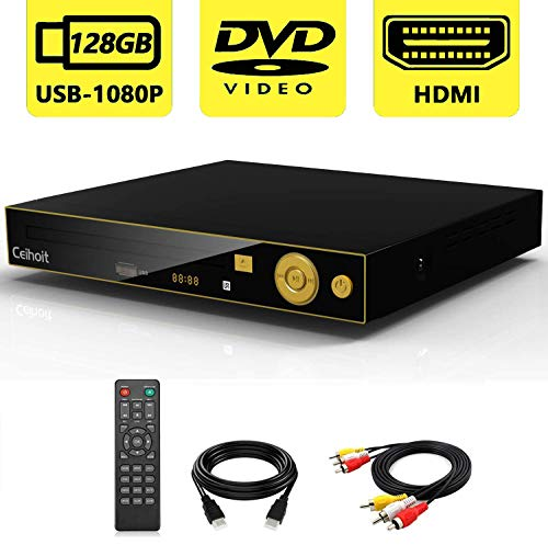 Save %6 Now! CLEAREANCE Sale-HD DVD Player for TV with HDMI and AV Input, Support Real1080P HD MP4/R...
