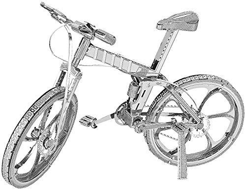 Playtastic Modell: 3D-Bausatz Fahrrad aus Metall im Maßstab 1:18, 36-teilig (Modell-Bausatz)