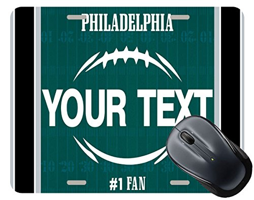 BRGiftShop Customize Your Own Football Team Philadelphia Square Mouse Pad
