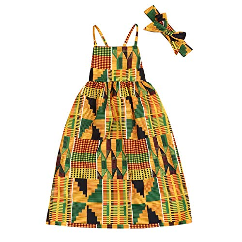 YOUNGER TREE African Baby Clothes Girl Dashiki Ankara Outfit Set