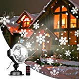 Padoo Snow Falling Projector Lights with Snowflakes /Snow Storm Projector Light with RF Remote Control Indoor&Outdoor for Christmas/Holiday Party Decorative