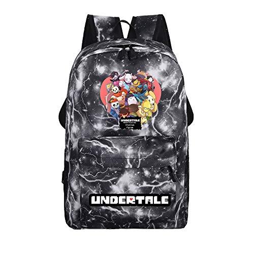 Undertale Sans Impresión Hombres Mochila Game Bolsa Unisex Estudiante Laptop School Shoulder Bag