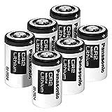 Panasonic CR2 Photo Lithium 3V Batteries for Mini 25 Mini 50 Mini 50S Mini 55 Pivi MP-100 & SP-1- Silver (Pack of 6)