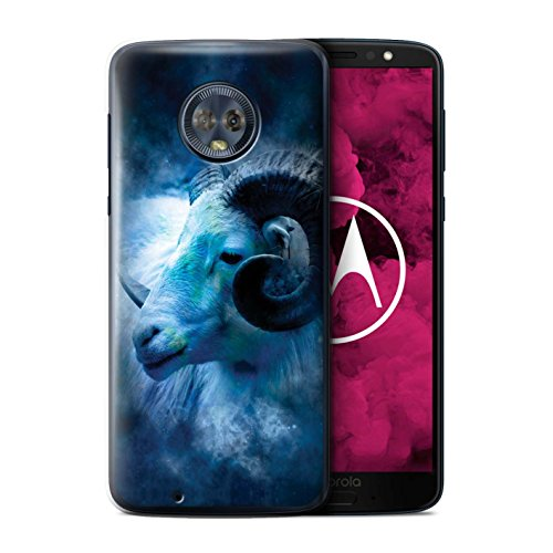 Stuff4 telefoonhoesje/hoes voor Motorola Moto G6 2018/Aries/Ram Design/Zodiac Star Sign Collection