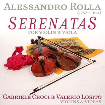Alessandro Rolla: Serenatas for Violin & Viola