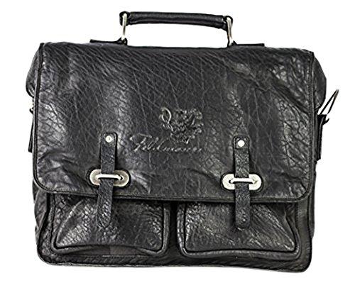 Feldmoser 1414 Akte Y Business-Tasche mit Henkel Leder DDDM Black