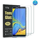 Ylife Panzerglas Schutzfolie Kompatibel Samsung Galaxy A7 2018, (3 Stück) 9H Härtegrad HD Transparenz Panzerglasfolie, Keine Luftblasen, Anti-Kratze Bildschirmschutzfolie, 0.33M Ultra Dünner Glas Folie