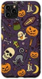 iPhone 11 Pro Max Halloween Pumpkins Black Cat Bats Witch Ghost Skull Candy Case