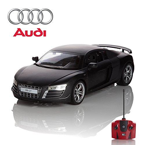 Audi R8 GT Fernbedienung/Ferngesteuert Modell Auto. 1:14 Maßstab Rot/weiß/Matt Schwarz - Matt Schwarz, Matt Schwarz
