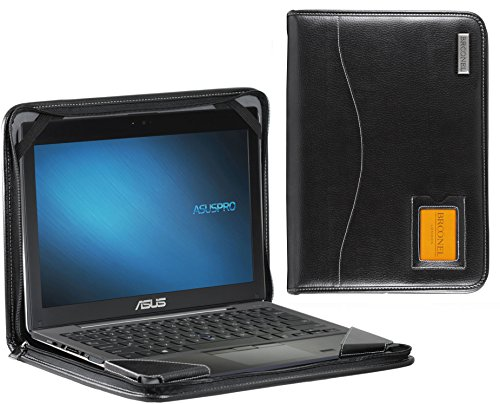 Broonel - Contour Series - Cuir végétalien Noir Housse de protection pour la ASUS ZenBook Pro 15.6 4K Touchscreen Laptop