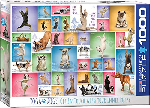 EuroGraphics Yoga Dogs, 1000 Teile Puzzle, Mehrfarbig