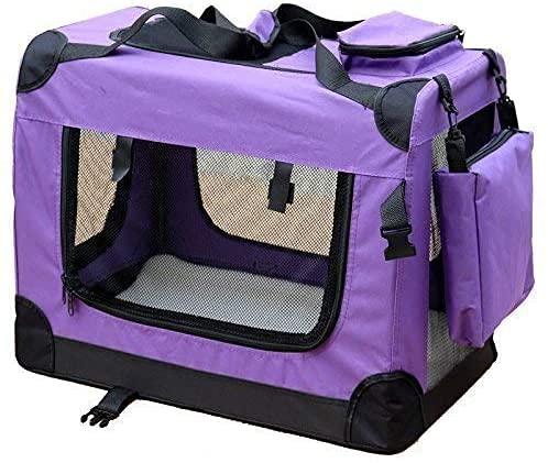 Andreas Dell Hundetransportbox Hundetasche Hundebox Faltbare Kleintiertasche (Lila, (L) 70x50x52 cm)
