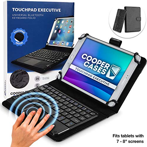 "Cooper Touchpad Executive [Multi-Touch Mouse Keyboard] case for 7 to 8"" Tablets 