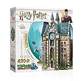 WREBBIT 3D - Harry Potter - Hogwarts Clock Tower 3D Jigsaw Puzzle - 420 Pieces (HOGWCL)