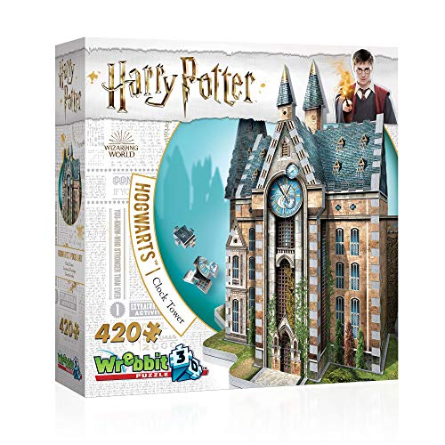 Wrebbit 3D Puzzle- Wrebbit 3D Harry Potter (Hogwarts-Clock Tower) Puzzle de 420 Piezas (W3D-1013)