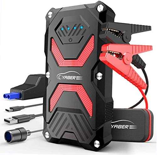 YABER Jump Starter Car Battery Jump Starter Pack 1000A 13800mAh for 6 0L Gas 5 0L Diesel IP68 product image