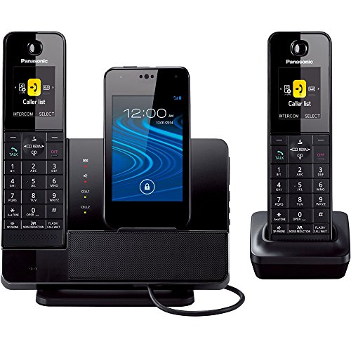 Panasonic KX-PRD262B Link2Cell Digital Phone with Smartphone Integration, Answering Machine & 2 Cordless Handsets (Discontinued By Manufacturer)
