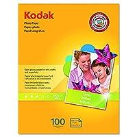 Kodak 8209017 写真用紙 6.5ミル 光沢 8-1/2 x 11インチ 100枚パック