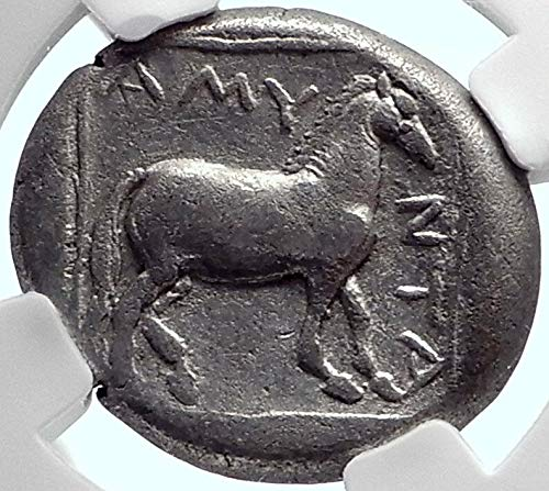 1000 GR AMYNTAS Macedonia Kingdom Ancient AR Greek Stater Didrachm Ch VF NGC