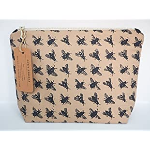 Large Bee Makeup Toiletry Bag Cosmetics Travel Storage Gifts for women gifts for her gifts for mum