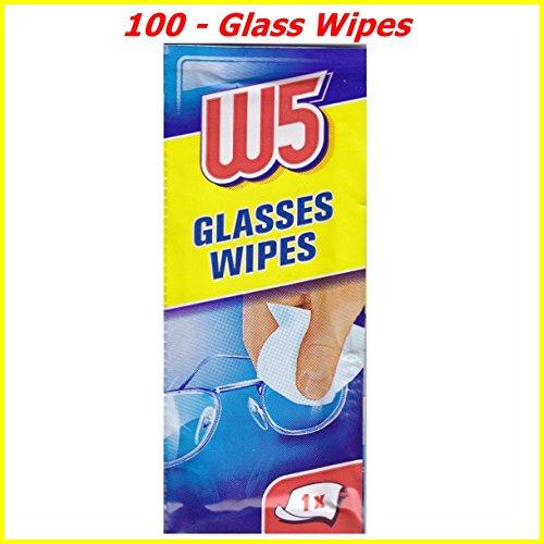 Reinigungstücher, geeignet zum Reinigen von Brillen, Kameras, Ferngläsern, Autospiegeln, Helmvisieren, Computer-Bildschirmen, Fernsehern, Mobiltelefonen, iPhone, Android, 100 Stück