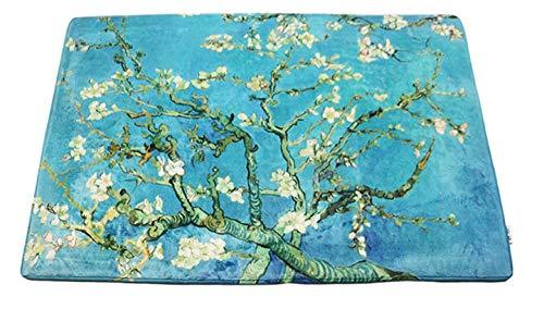 YUANCJ Tappeto Moderno Soggiorno,Tendenza personalità Creativa Pittura a Olio camoscio Tappeto Camera da Letto Soggiorno Tappetino Antiscivolo 1,80 × 120 cm_