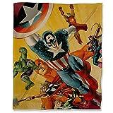 ARYAGO Capitán América Civil War - Manta térmica ligera de forro polar (130 x 180 cm), diseño de superhéroes de los Vengadores