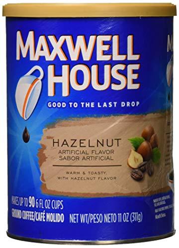 Maxwell House Hazelnut Ground Coffee, 11-Ounce Cannister