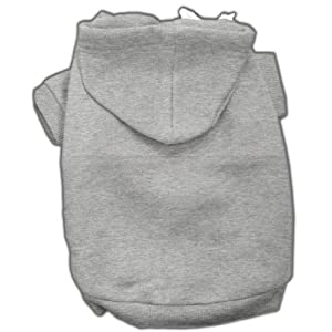 Mirage Pet Products 10-Inch Blank Hoodies, Small, Grey