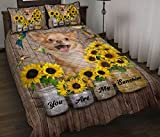 Chihuahua Long Hair - You are My Sunshine Quilt Blanket & Quilt Bedding Set, Comfort Warmth Soft Cozy Air Conditioning Machine Wash