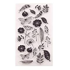 size: approx 11x20cm Limitless creative combinations Durable stamps Ideal for card making, DIY paper craft and scrapbooking pages Works great with any inks (dye, pigment, oil) and any clays on any surface (paper, fabric or plastic).