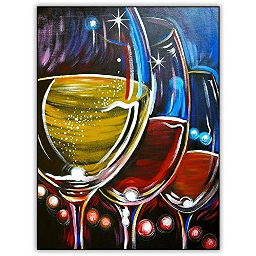 cuadros diamantes 5d grande Copa de vino tinto diamond painting kit completo adultos bordado punto de cruz punto cristal rhinestone Lienzo Craft decor de la pared del hogar regalo Square drill_50x70cm