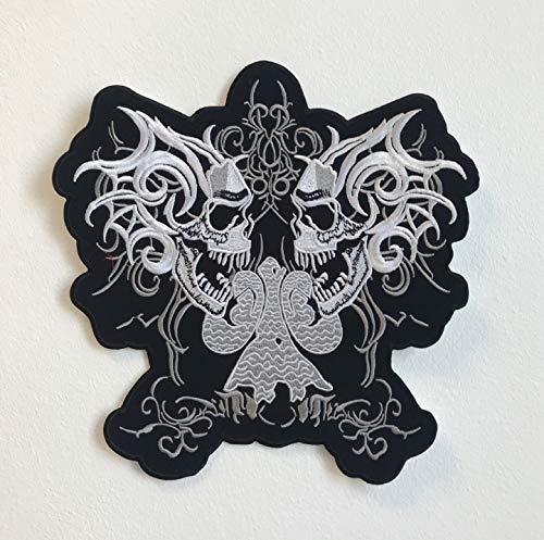 Skull Riders - Parche bordado para chaqueta de motociclista