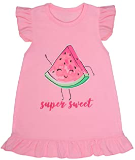 RainbowTree Girls Nightgowns Soft Nightdress Sleepwear Pajamas Dress for Toddler Little Girls 2-11 Years